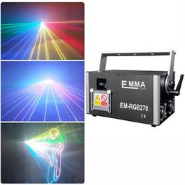 Venta al por mayor de Nueva etapa RGB ILDA DJ de luz láser de múltiples proyector láser de animación haz Emma color 500MW / 1W / 2W / 3W / 4W / 5W RGB, luces láser de texto para la venta