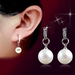 $enCountryForm.capitalKeyWord NZ - New Personality Crystal Earrings High Quality Pearl Earrings For Women Stud Inlaid Big Pearl Wholesale