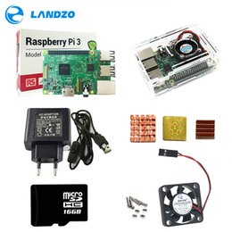 Raspberry Fan Australia - Freeshipping Raspberry Pi 3 ABS Case with fan 16GB SD Card Heat Sink and 5V 2.5A Power adapter with switch cable for raspberry pi model b
