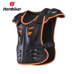 12 Gear Australia - HEROBIKER Children Motorcycle Armor Vest for 4-12 Ages Kids Protective Gear Body Armor Moto Vest Motocross Protector Guards
