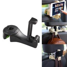 Car Back Hook Australia - Car Clips Seat Back Hooks Bags Hanger Phone Holder Car Accessories Automobiles Headrest Mount Storage Universal Hook