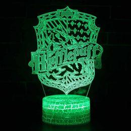 $enCountryForm.capitalKeyWord Australia - Novelty Colorful 3D Harry Potter LED Night Light USB Rechargeable Desk Light Bedroom Night Lamp Home Decor Creative Gift