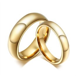 $enCountryForm.capitalKeyWord NZ - wholesale Vintage Tungsten Carbide Wedding Rings For Couple Solid Gold-Color Lover's Engagement Anel Jewelry for Drop Shipping X7-M2