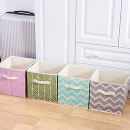 Woven Folding Box Australia - New Folding Non-woven fabric Storage box Cube Bin for Children Toys sundries Organizer storage bins with Handle storage