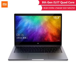 Xiaomi Game Australia - 2019 Original Xiaomi Laptop .3 Inch Inter 8th Quad Core i5 i7 8G MX250 Ultra thin Laptops 256G SSD FHD PC for Game Office
