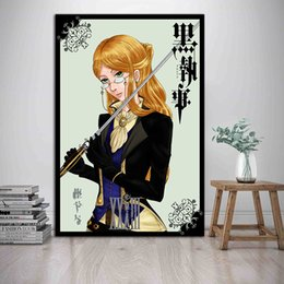 $enCountryForm.capitalKeyWord Australia - Black Butler Anime Paintings On Canvas Poster Modern Art Decorative Wall Pictures For Living Room Home Decoration