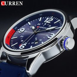 men watch leather curren Australia - 2017 Curren Clock Man Watch Quartz Blue Watches Men Analog Leather Male Sports Men's Wrist Watch Horloges Mannen