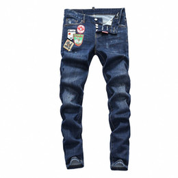Trousers Size 38 UK - 19SS The latest Italian men's hollow high-quality jeans hip-hop logo designer trousers men's size 28-38 new model DN10