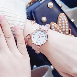 analog wrist watch sale Canada - 2019 Montres Women Watches Geneva Heart Watch Leather Belt Quartz Analog Wrist Watch Ladies Bracelet Watch Hot Sale relogio feminino Clock