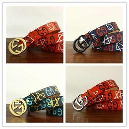 Star Belts Australia - 2019 Brand Designer Stars graffiti printing belt High quality belts for Women H woman strap men Jeans dress casual belt girl gifts