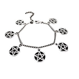$enCountryForm.capitalKeyWord Australia - Bracelet Unisex Fashion Gothic Star Pentagram Charm Punk Pentacle Bangles Bracelets For Women Pentacle Bracelet