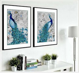 Vertical Paintings Australia - Cross stitch the latest Rubik's Cube Diamond Hot selling Diamond painting Peacock Spirit Vertical porch living Room