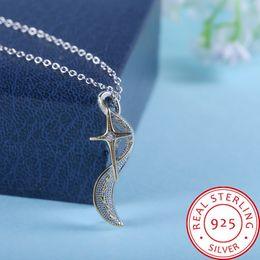 $enCountryForm.capitalKeyWord Australia - Creative footprints beach matte cross shining stars 925 silver gold-plated necklace 50cm Pendant Necklace for Women Elegant Jewelry Gift