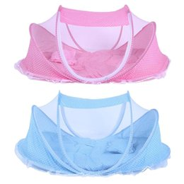 mosquito netting for baby cribs 2019 - Bedding Crib Netting Folding Baby Music Mosquito Insect Nets Bed Mattress Pillow Portable Three-piece Suit For 0-2T Bay