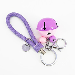 $enCountryForm.capitalKeyWord Australia - New Cute Bells Key Chains PU Rope Handbag Fashion Decor Colorful Keychains Personalized Decorative Supplies Friendship Gifts