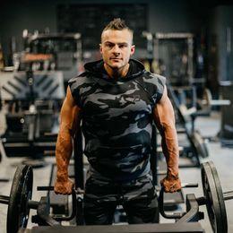 $enCountryForm.capitalKeyWord Australia - New Summer Brand running training sportswear Mens Fitness Bodybuilding Hooded Tank Tops Vest clothing sleeveless Sweatshirt male