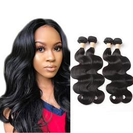 body wave hair one piece Canada - Indian Virgin Raw Hair Products 4 Bundles Body Wave Double Wefts Natural Color 4 Pieces One Lot Hair Extensions 8-30inch
