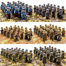 Block Build Australia - 21pcs set Ww2 Army Military Building Blocks France Italy Japan Britain China Small Soldier Officer Weapons Bricks Toys Q190521