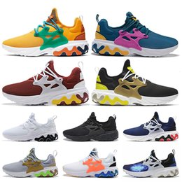 mens summer breathable shoes Australia - Breathable Beams X React Presto Dharma Running Shoes Witness Protection Barely Volt Rabid Panda Triple Black Mens Reacts Shoes Wmn Sneakers