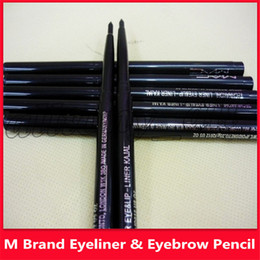 $enCountryForm.capitalKeyWord Australia - 2019 Famous M brand 12pcs lot M brand Makeup Rotary Retractable Black Eyeliner Pen Pencil Eye Liner Newest Eye Liner