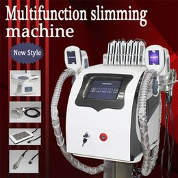 Discount slim can - Unique design fat freezing machine waist slimming cavitation rf machine fat reduction lipo laser 2 freezing heads can wo