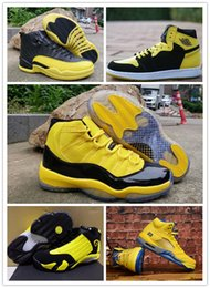 Wholesale Retro Big Kids Mens Basketball Shoes Bumblebee Yellow Black Trainers Sports Sneakers s s baskets Jumpman des chaussures