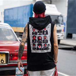 $enCountryForm.capitalKeyWord Australia - Printed Men's Tank Top with Hoodie 2019 Summer Sleeveless Hooded Tank Tops Men Streetwear Clothing
