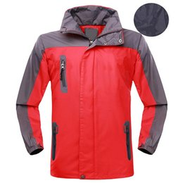 de9adeea6d1 Men Hiking Sports Jacket Waterproof Windproof Fast Drying Hooded Coat  Outdoor Running Climbing UV Protection Comfortable Clothes