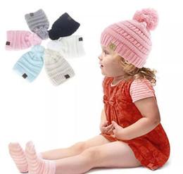 Boys Skull Hats Australia - Newest Baby Boys Girls Warm Autumn Winter Beanies CC Hats Kids Trendy Soft Cap Casual Fashion Solid Knitted Hat 50pcs
