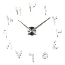 $enCountryForm.capitalKeyWord UK - Promotion New Wall Clock Quartz Watch Modern Design Large Decorative Clocks Europe Acrylic Stickers Living Room