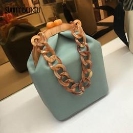 $enCountryForm.capitalKeyWord Canada - Women Luxury Acrylic Chain Handle Bucket Bags Box Tote Handbag Messenger Bag Crossbody Clutch For Woman Spring Bag Pu Leather Y19061301