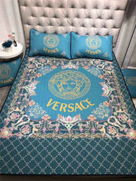Venta al por mayor de Marco de flores Diseño extravagante Cubierta de cama Medusa Rejilla Colchoneta Azul 3 UNIDS Verano Suave Estera