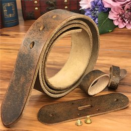 mens wide leather belt NZ - TOP Quality Leather Belts Without Buckles Men Belt Ceinture Homme Mens Leather Belts Without Buckles 95-125CM SP05 T200411