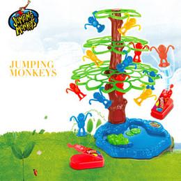 $enCountryForm.capitalKeyWord NZ - China Supplier Hot Funny Popular Kids Plastic Toy Kids toy N monkey jumped a tree with mini plastic monkey Play Game Set