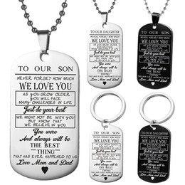 $enCountryForm.capitalKeyWord Australia - To My Son unique Designer Mens Military Army Style 316L Stainless Steel Dog Tags Chain Mens Pendant Necklace Jewelry Accessories