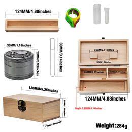 $enCountryForm.capitalKeyWord Australia - Wood Stash Box Wooden Storage Smoking Cases Multi Function Large Storage Set Wax Bamboo Storage Herb Cases For Grinders Glass Tips Silicone