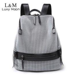 $enCountryForm.capitalKeyWord Australia - 2019 Women's Nylon Backpack Casual Women Large Backpacks School Bags For Teenage Girls Female Lightweight Travel Rucksack Xa250h Y19061004