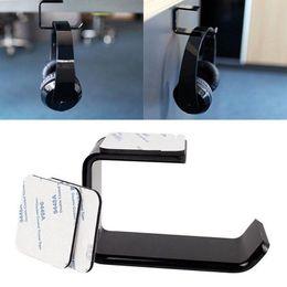 $enCountryForm.capitalKeyWord Australia - Durable Headphone Headset Holder Acrylic Under-Desk Stick-on Headphone Hanger Wall Desk Display Stand Bracket Headphone Accessories