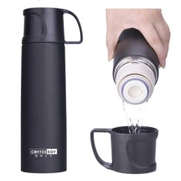 water bottles for boys Canada - Coffee Boy 500ml Thermos Bottle With Lid Stainless Steel Vacuum Flasks For Tea Thermo Mug Women Thermocup C19041601