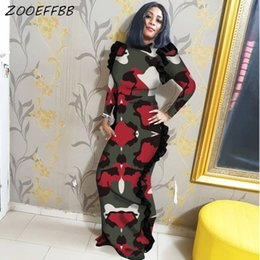 Plus size clubbing clothing online shopping - ZOOEFFBB Camouflage Leopard Long Sleeve Maxi Dresses Women Fall Winter Clothes Plus Size Bodycon Vestidos Sexy Club Party Dress