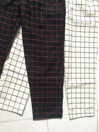 $enCountryForm.capitalKeyWord Australia - Color Korean Block Stripe Plaid Slim Trouser Women Cargo Thin Sweatpant Pant Summer Jogger Drawstring Harem Streetwear Harajuku