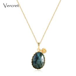 $enCountryForm.capitalKeyWord Australia - Vercret 925 sterling silver chain necklace labradorite stone pendant necklace women's jewelry gift sp presale J190523