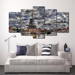$enCountryForm.capitalKeyWord Australia - Mill River Homes Landscape,5 Pieces Home Decor HD Printed Modern Art Painting on Canvas (Unframed Framed)