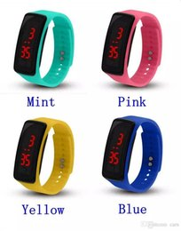 New Watch Touch Screen Australia - New Fashion Sport LED Watches Candy Jelly men women Silicone Rubber Touch Screen Digital Watches Bracelet Wrist watch