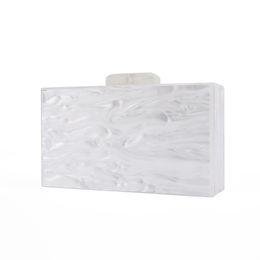 $enCountryForm.capitalKeyWord UK - Fashion Lady Bridal Handmade China Factory Supplier Size 18x10 Cm With Mirror Inside Pearl White Acrylic Box Bags Acrylic Clutch Y190627