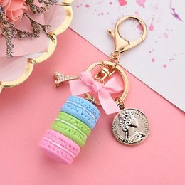 $enCountryForm.capitalKeyWord Australia - 1PCS 6 Styles Hot Sale Jewelry Pendant Sweet Macaron Girl Bag Pendants Cute Keychain Small Gifts for Girlfriend Lovely Romantic