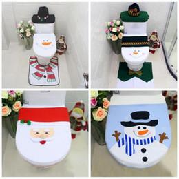 Santa Claus Christmas Ornament Australia - 1pcs Christmas Bathroom Toilet Seat Cover Paper Rug Natal Ornaments New Year Santa Claus Navidad Xmas Christmas Decor Home