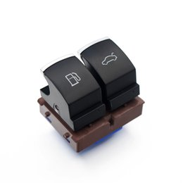 Vw Passat Button Australia - High quality Chrome Gas Door Fuel Tank Switch Trunk Luggage Button For VW Volkswagen Passat B6 B7 CC JETTA EOS 2003- 35D959903