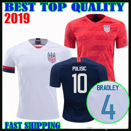 29ff993cd 2019 usa away red Soccer Jerseys home white United States 2020 America  PULISIC BRADLEY DEMPSEY ALTIDORE YEDLIN Football Uniform shirt Female