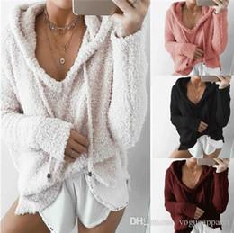 $enCountryForm.capitalKeyWord Australia - Women Clothes Pink Winter Warm Hoodies Loose Cute Fleece Pullover women Clothing Cheap Wholesale Free Shipping